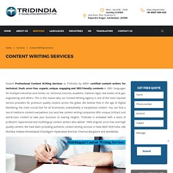 Why to Get Content Writing Services from Professionals in Bengaluru?
