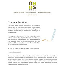 Corporate Content Writing Services
