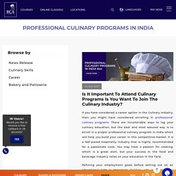 Professional Culinary Programs in India