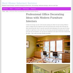 Professional Office Decorating Ideas with Modern Furniture Interiors