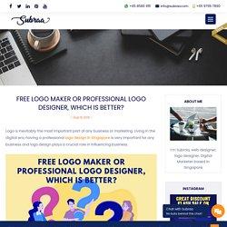 Logo maker or professional logo designer, which is better?