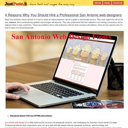 4 Reasons Why You Should Hire a Professional San Antonio web designers - justpaste.it