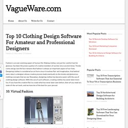 Top 10 Clothing Design Software For Amateur and Professional Designers