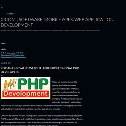 For An Unrivaled Website, Hire Professional PHP Developers