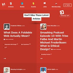 Smashing Magazine - For Professional Web Designers and Developers