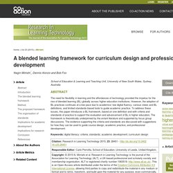 A blended learning framework for curriculum design and professional development