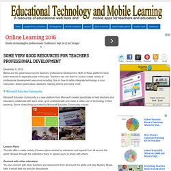 Some Very Good Resources for Teachers Professional Development