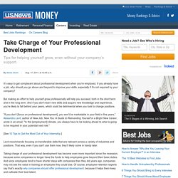 Take Charge of Your Professional Development