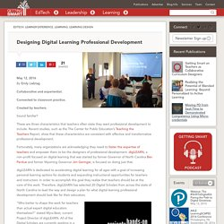 Designing Digital Learning Professional Development