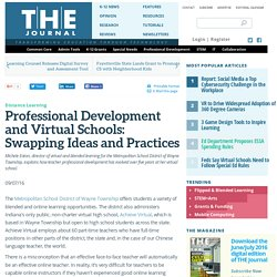 Professional Development and Virtual Schools: Swapping Ideas and Practices