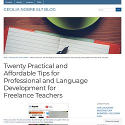 Twenty Practical and Affordable Tips for Professional and Language Development for Freelance Teachers « Cecilia Nobre ELT Blog