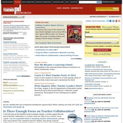 Education Week Teacher Professional Development Sourcebook