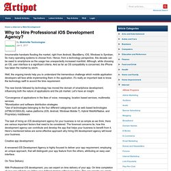 Why to Hire Professional iOS Development Agency?