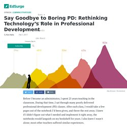 Say Goodbye to Boring PD: Rethinking Technology's Role in Professional Development