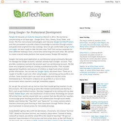 Using Google+ for Professional Development