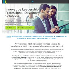 Leadership & Professional Development