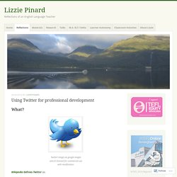Using Twitter for professional development – Lizzie Pinard