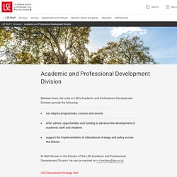 Academic and Professional Development Division