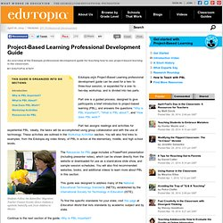edutopia PBL PD Guide