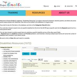 Project ENABLE- professional online development for teachers, librarians