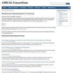 AMICAL: Professional Development & Training