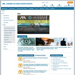 ABA Publications & CLE