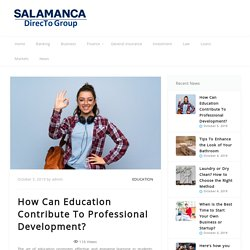 How Can Education Contribute To Professional Development?