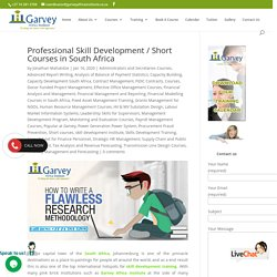 Professional Skill Development / Short Courses in South Africa