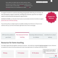 Home teaching and professional development for teachers