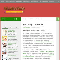 Use Twitter for Professional Development
