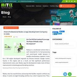 Find A Professional Node Js App Development Company In India
