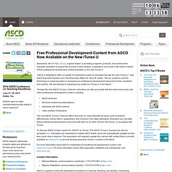 Free Professional Development Content from ASCD Now Available on the New iTunes U