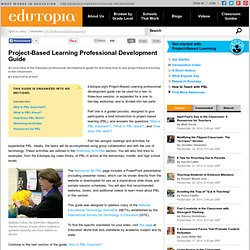 Project-Based Learning Professional Development Guide
