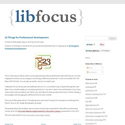 23 Things for Professional Development | libfocus - Irish library blog