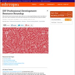 DIY Professional Development: Resource Roundup