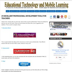 23 Excellent Professional Development Tools for Teachers