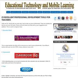 23 Excellent Professional Development Tools for Teachers