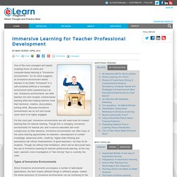 Immersive Learning for Teacher Professional Development