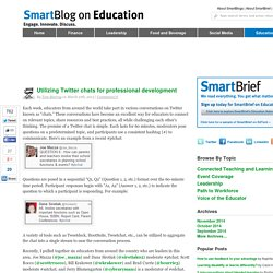Utilizing Twitter chats for professional development SmartBlogs