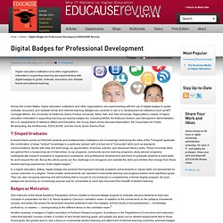 Digital Badges for Professional Development