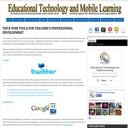 Top 8 Web Tools for Teacher's Professional Development