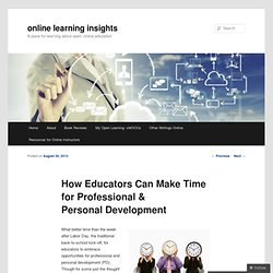 How Educators Can Make Time for Professional & Personal Development