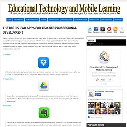 The Best 15 iPad Apps for Teacher Professional Development