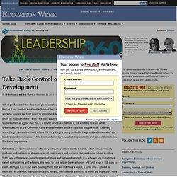 Take Back Control of Professional Development - Leadership 360