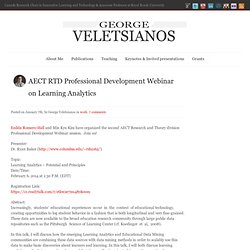 AECT RTD Professional Development Webinar on Learning Analytics