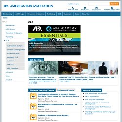 The ABA Center For CLE