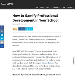 How to Gamify Professional Development in Your School