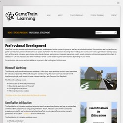 GameTrain Learning- Game-based learning professional development workshops for teachers