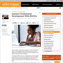 Summer Professional Development with MOOCs