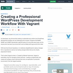 Creating a Professional WordPress Development Workflow With Vagrant - Tuts+ Code Tutorial